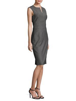 Cerea Houndstooth Sheath Dress