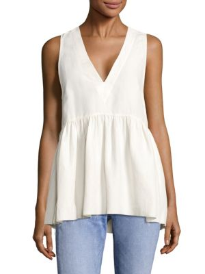 Gabby V-Neck Ruched Top