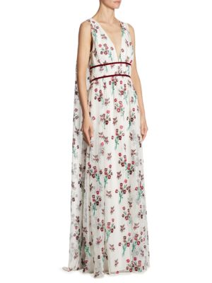 Trudey Floral Embroidered Gown