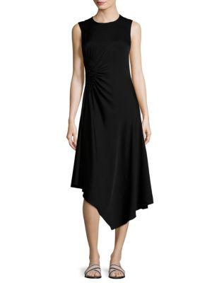 Martha Asymmetrical Ruched Dress