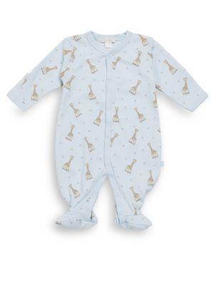 Baby Boy's Giraffe-Print Pima Cotton Footie