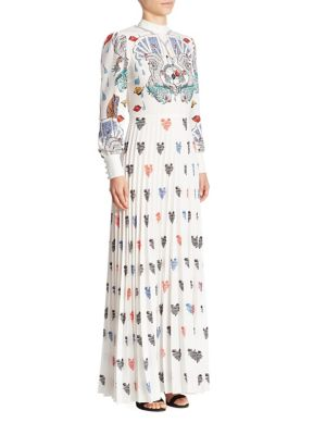 Mizar Card & Heart-Print Gown