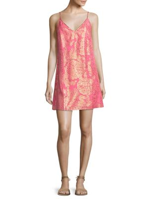 Lela Coral Reef Silk Sheath Dress