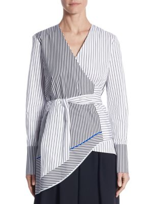 Striped Wrap Shirt by Tome
