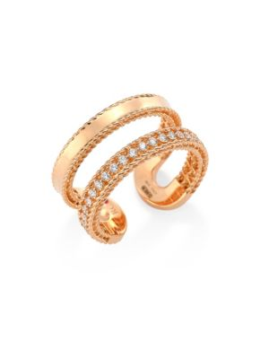 Double Symphony Diamond and 18K Rose Gold Ring