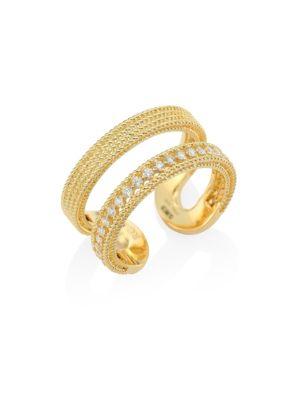 Double Symphony Diamond & 18K Yellow Gold Ring