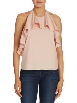 Windy Ruffled Cotton Swing Top by Alice + Olivia