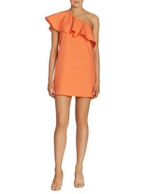 Cammie Ruffled One-Shoulder Dress