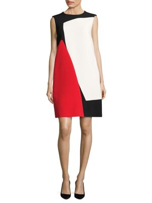 Danissas Mondrian Colorblock Shift Dress