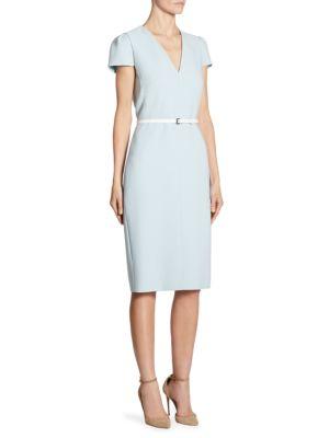Teorema Belted Wool Dress