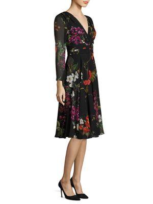 Dissina Floral-Print Silk Dress