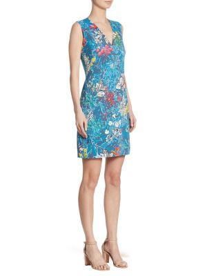 Stretch Floral-Print Dress