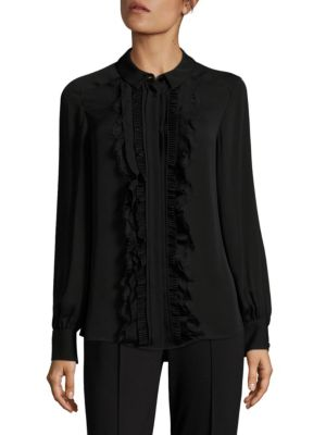 Silk Button-Front Blouse by Escada