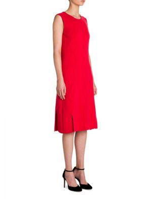 Zigzag-Knit Virgin Wool Shift Dress