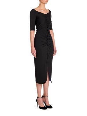 Ruched Jersey Midi Dress