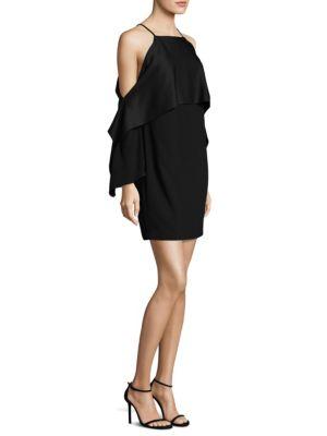 Cold-Shoulder Cape Dress