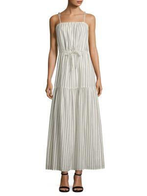 Theodorine Striped Cotton Maxi Dress