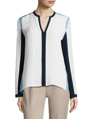 Layne Colorblock Silk Blouse