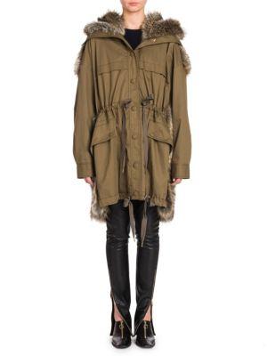 Army Faux Fur Jacket
