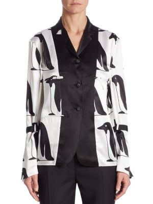 Silk Penguin Blouse by Thom Browne