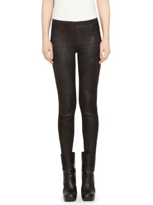 Solid Leather Leggings