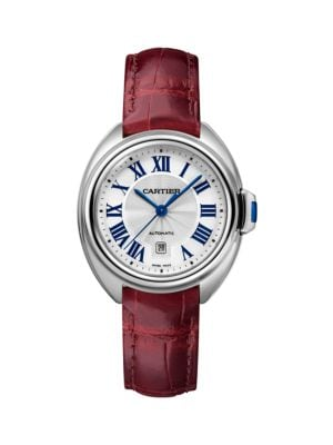 Clé de Cartier Stainless Steel & Alligator Strap Watch/31MM