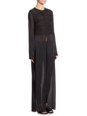 Sabrina Silk Shirt Dress