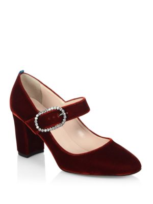 Austen Velvet Mary Jane Pumps