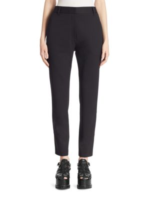 Wool-Blend Straight Leg Pants