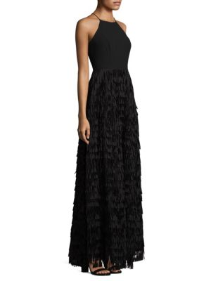 Fringed Halter Dress