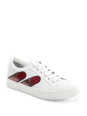 marc jacobs female empire finger leather laceup sneakers