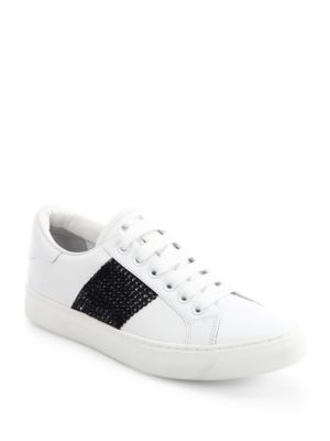marc jacobs female empire strass leather laceup sneakers
