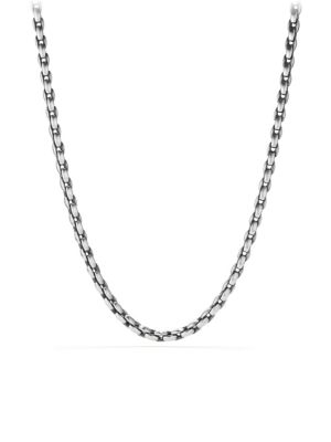 Sterling Silver Elongated Chain Necklace