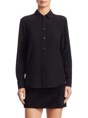 Cotton Button-Front Blouse by Saint Laurent