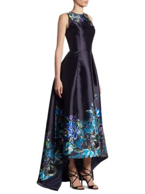 Embroidered Hi-Lo Gown