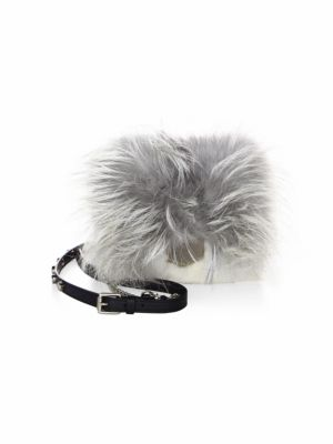 Petite Metallic Lockett Mink Fur Crossbody Bag