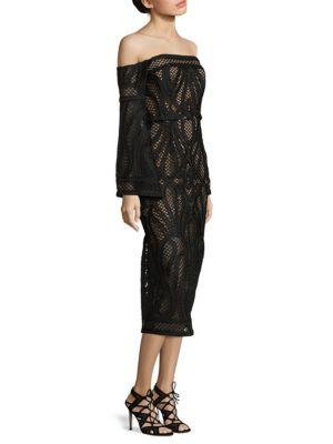 Sonnet Crochet Off-The-Shoulder Dress