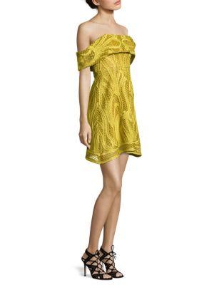 Ravello Crochet Off-The-Shoulder Dress