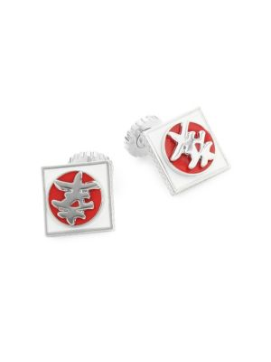 Japanese Happiness Symbol Cuff Links
