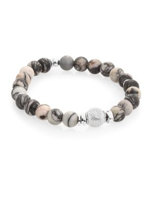 Stonehenge Sterling Silver & Semi-Precious Stone Beaded Bracelet