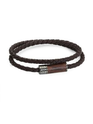Montecarlo Leather & Wooden Bracelet