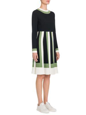Colorblock Long Sleeve Shift Dress