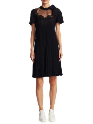 Plisse Pleated Knit Dress