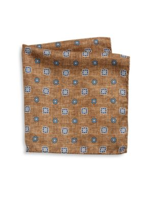 COLLECTION Flower Diamond Printed Pocket Square