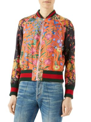 Loved Floral-Print Bomber Jacket