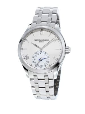 FREDERIQUE CONSTANT Horological Swiss-Quartz Stainless Steel Smart Watch