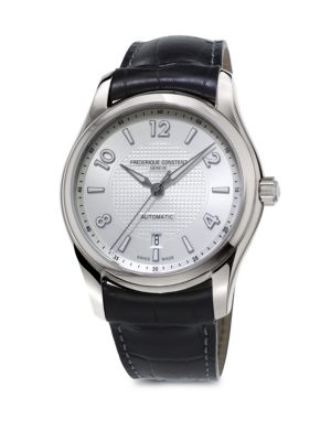 Stainless Steel Automatic Leather Strap Watch