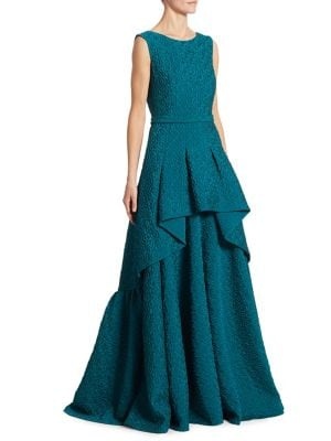 Textured Tiered Ball Gown