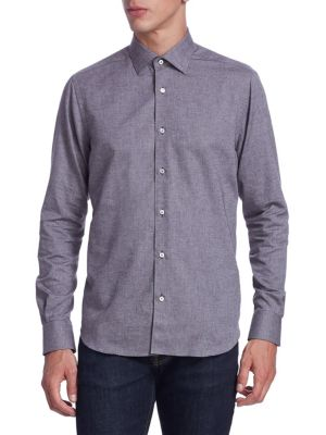 COLLECTION Classic Sport-Fit Tweed Donegal Button-Down Shirt