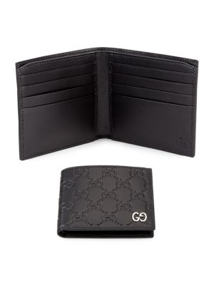 Embossed GG Leather Bifold Wallet